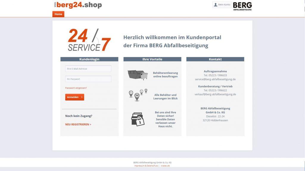 Berg Online-Service